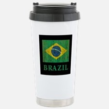 Vintage Brazil Stainless Steel Travel Mug