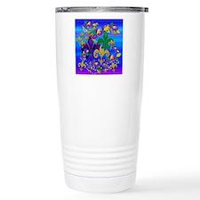 Mardi Gras Psycadelic Travel Mug