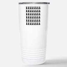 French Bulldog Silhouet Stainless Steel Travel Mug