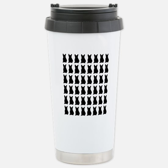 French Bulldog Silhouet Stainless Steel Travel Mug