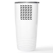 Basset Hound Silhouette Travel Mug