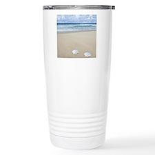 A pair of seashells on  Travel Coffee Mug