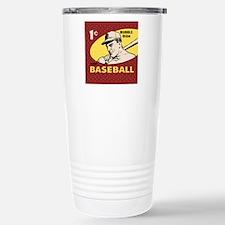 Bubble Gum Baseball Stainless Steel Travel Mug