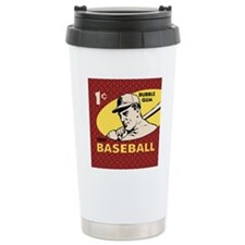 Bubble Gum Baseball Travel Mug