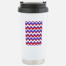 Red White and Blue Chev Travel Mug
