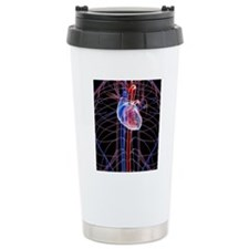 Human heart, artwork Travel Mug
