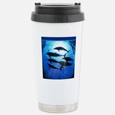 Porpoises in the Ocean  Travel Mug