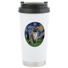 Starry - Snow Shoe Cat Travel Mug