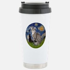 Starry - Tabby and whit Travel Mug