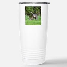 Turkey and Rabbit Stainless Steel Travel Mug