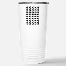 Schnauzer Silhouette Fl Stainless Steel Travel Mug
