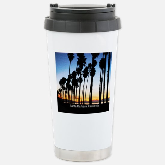 Sunset in Santa Barbara Stainless Steel Travel Mug