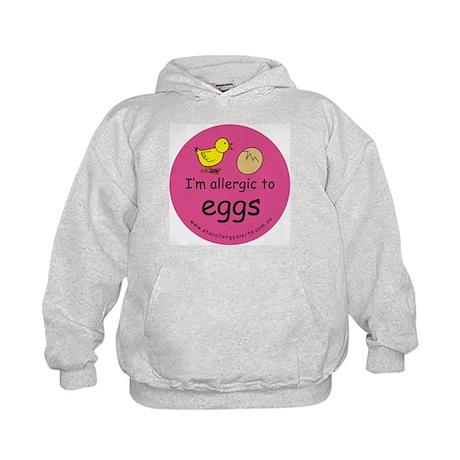 I'm allergic to eggs-pink Kids Hoodie