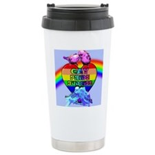 Gay Pride Budgies Travel Mug