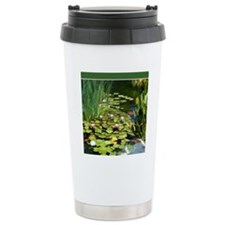 Koi Pond and Water Lili Travel Coffee Mug