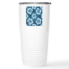 Blue Hibiscus Travel Coffee Mug