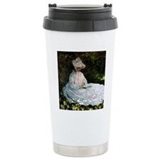 Claude Monet Woman Read Travel Mug