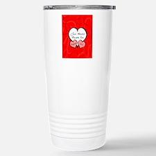 Red Two Hearts Engaged  Travel Mug