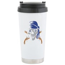 pirate pistol skull Travel Mug