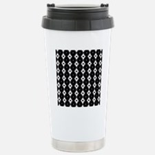 Funky Black And White P Stainless Steel Travel Mug