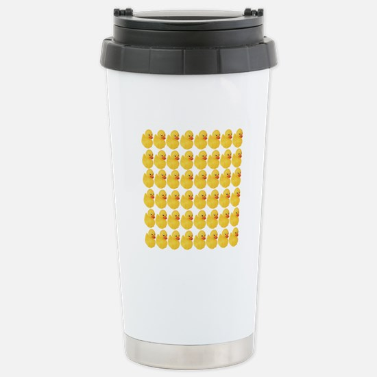 Rubber Duck Pattern Stainless Steel Travel Mug