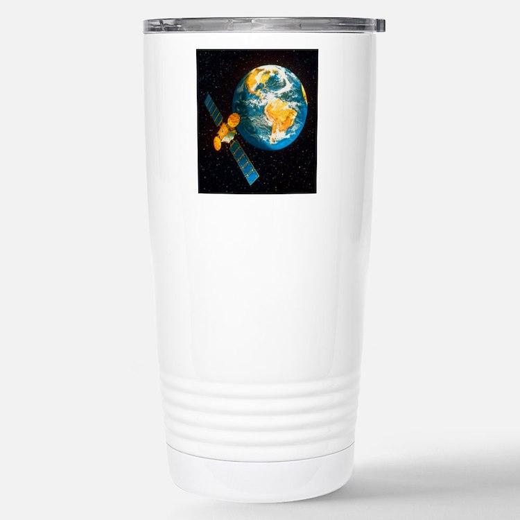 Artwork of a communicat Stainless Steel Travel Mug