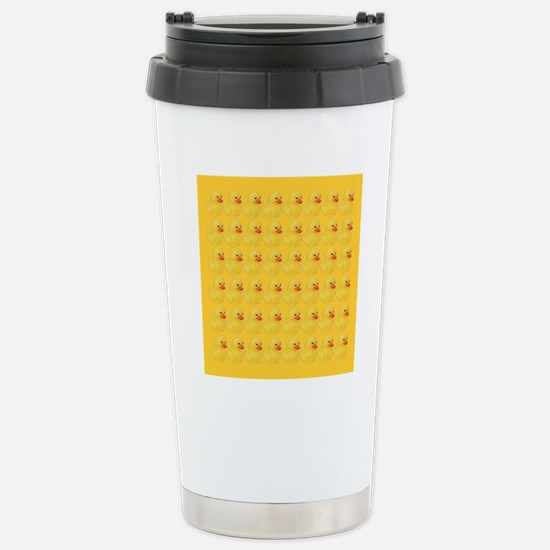 Rubber Duck Pattern Stainless Steel Travel Mug