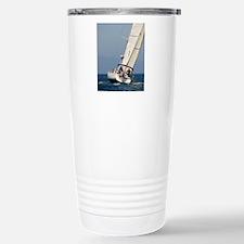 sail boat portrait post Stainless Steel Travel Mug
