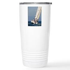 sail boat portrait post Travel Mug