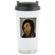 Jesus Fresco Head Travel Mug