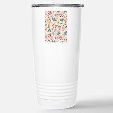 FlowerBotanical_Cream_L Stainless Steel Travel Mug
