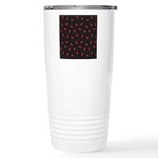 SkullsSimple_Red_Large Travel Coffee Mug