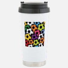 Colorful Soccer Balls Travel Mug