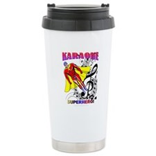 KARAOKE SUPERHERO! Travel Coffee Mug