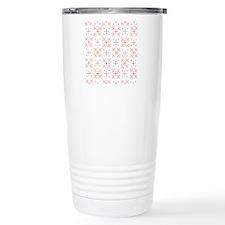 Retro Floral Pattern Thermos Mug