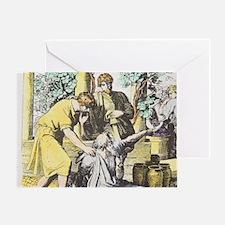 Noah drunken with sons, Ham cursed b Greeting Card
