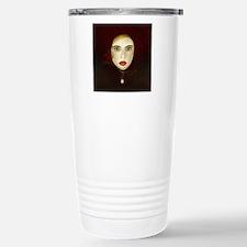Masked woman,pearl - Stainless Steel Travel Mug