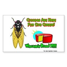 Wisconsin Cheese Cicada Rectangle Decal
