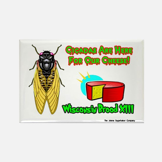 Wisconsin Cheese Cicada Rectangle Magnet