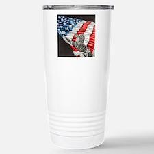 Fireman with American F Travel Mug