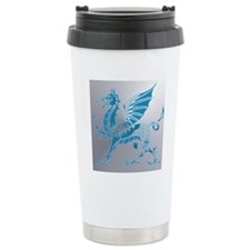 Blue  Silver Dragon Travel Mug