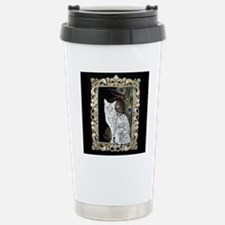Silver Egyptian Mau Stainless Steel Travel Mug