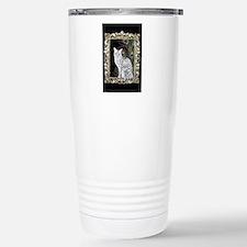 Silver Egyptian Mau Travel Mug