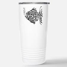 phish-graffiti-black Stainless Steel Travel Mug
