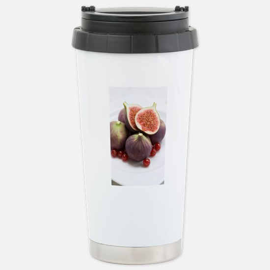 Whole and halved figs Stainless Steel Travel Mug