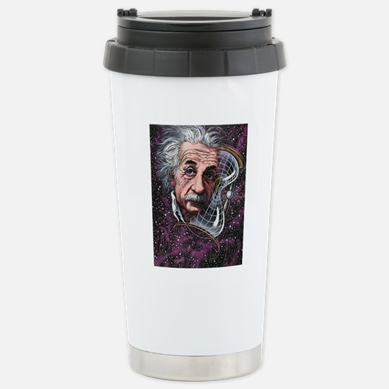 Albert Einstein, German Stainless Steel Travel Mug