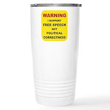 WARNING I SUPPORT FREE  Travel Mug