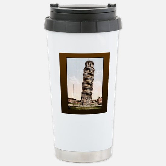 Vintage Leaning Tower O Stainless Steel Travel Mug