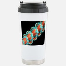 Chromatin fibre, artwor Stainless Steel Travel Mug