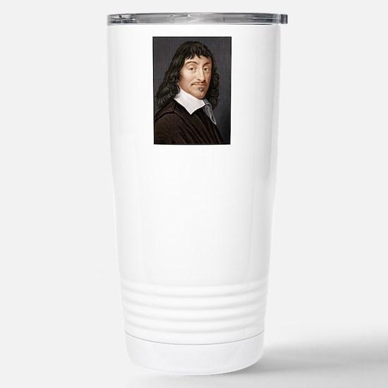 Rene Descartes, French  Stainless Steel Travel Mug